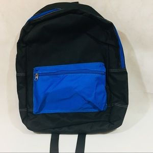 14f135ecfa1 Old Navy Accessories   Color Block Canvas Backpack Black Blue   Poshmark